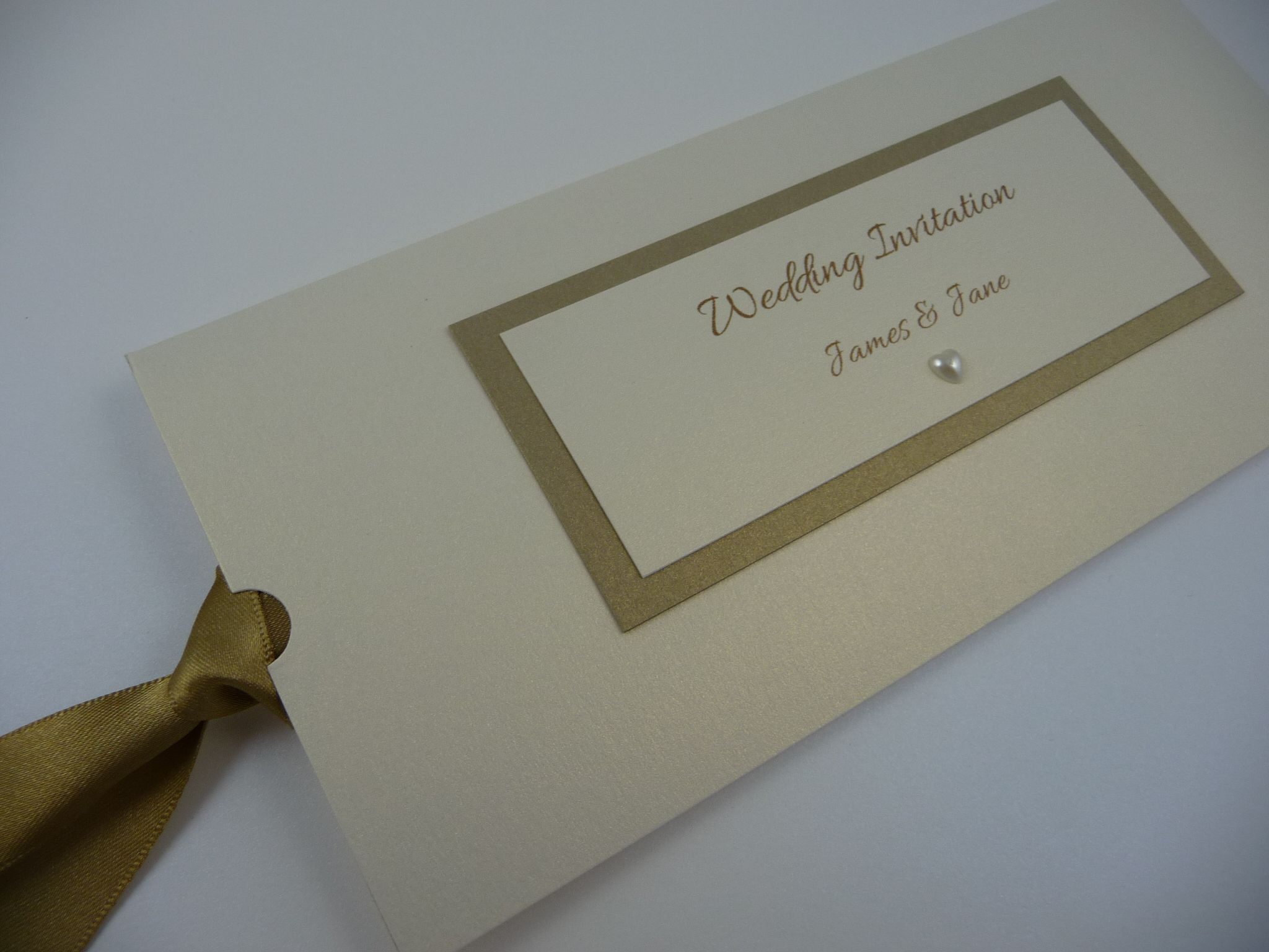 Ivory & Gold themed Wallet style invitations   Wedding Invitations ...