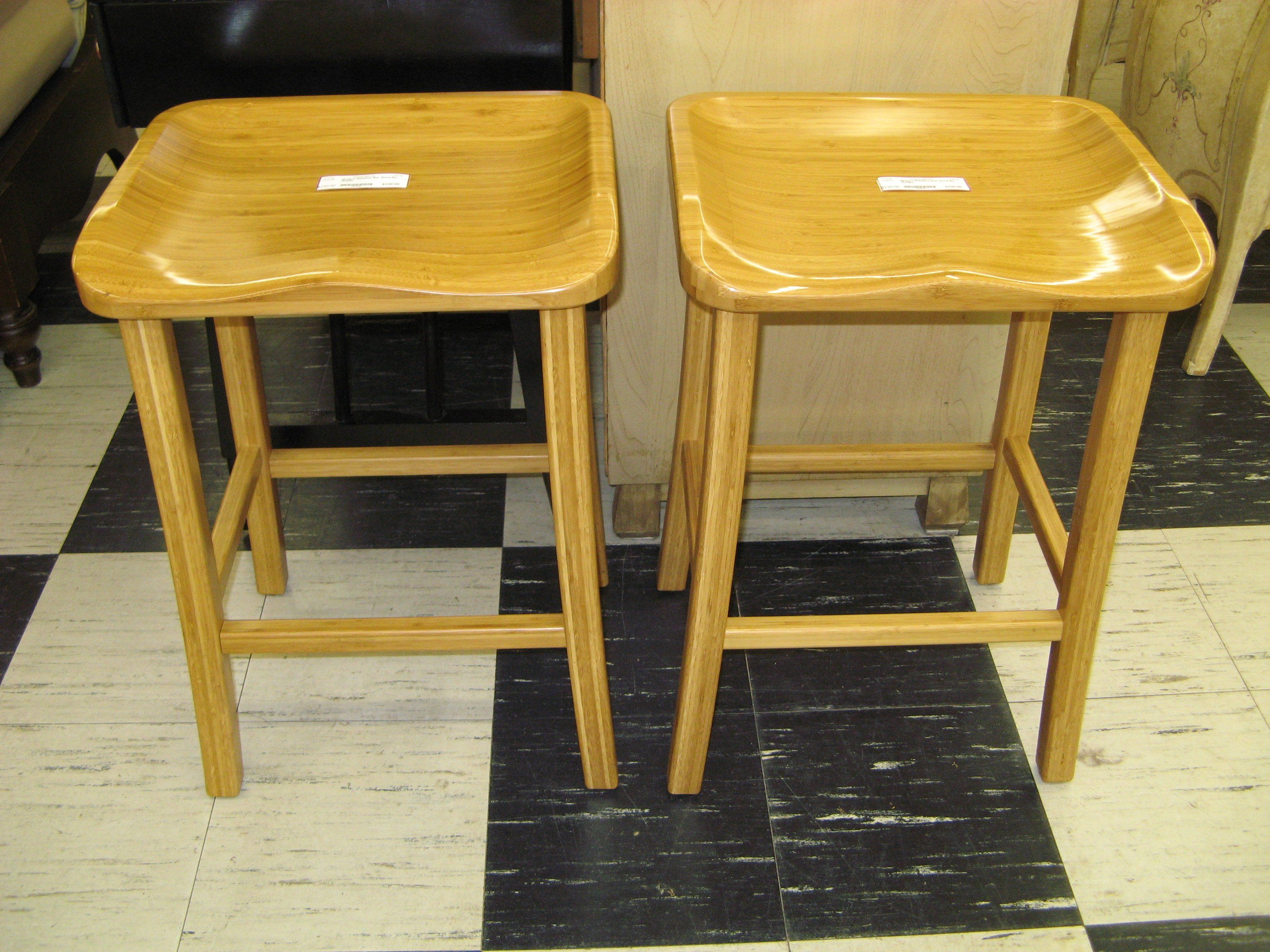 Modern bamboo bar stool with contoured seat by mobilia bamboo