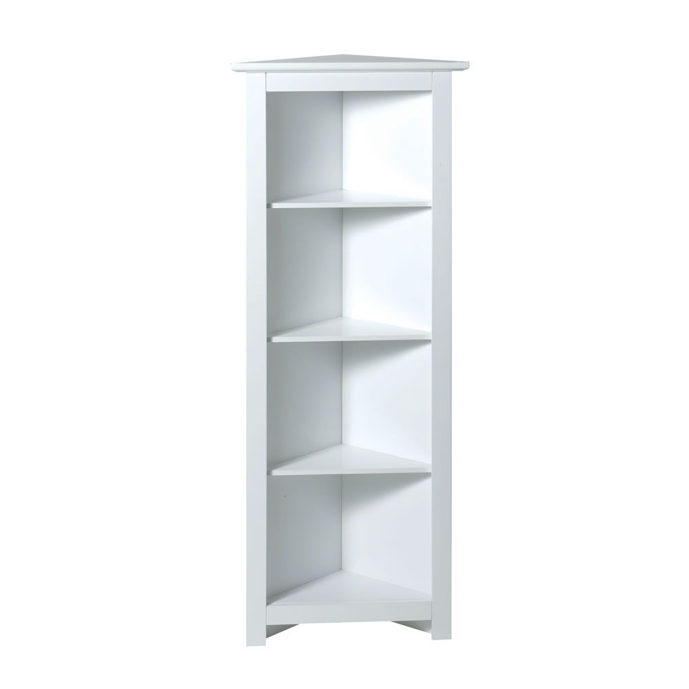 newest 0e2cf 7a664 Corner Shelf Unit 4 Tier White | Shelving Units ...