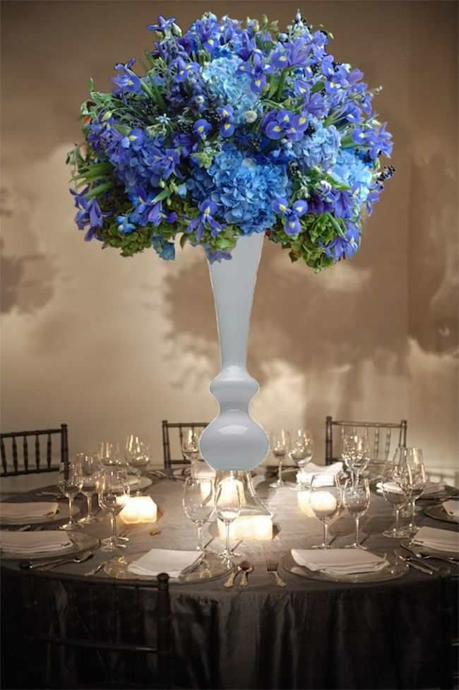 Shades of blue wedding centerpiece ideas preston bailey
