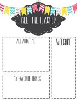 Meet The Teacher Template Letter  Teacher Parents And Students
