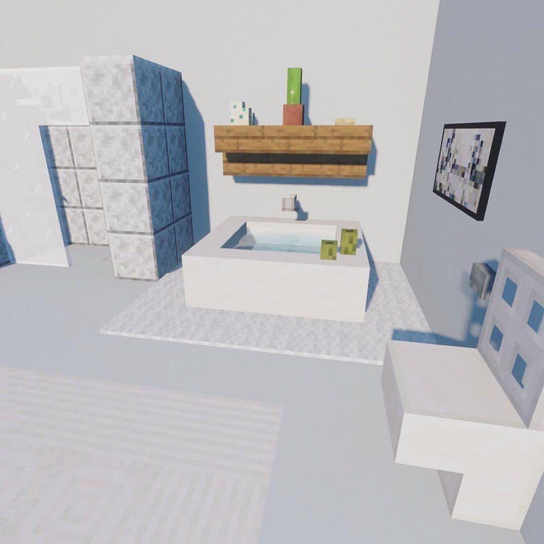 Minecraft Best Pics On Instagram Modern Bathroom Follow Minecraft Best Pics For More Easy Minecraft Houses Minecraft Houses Minecraft Houses Blueprints