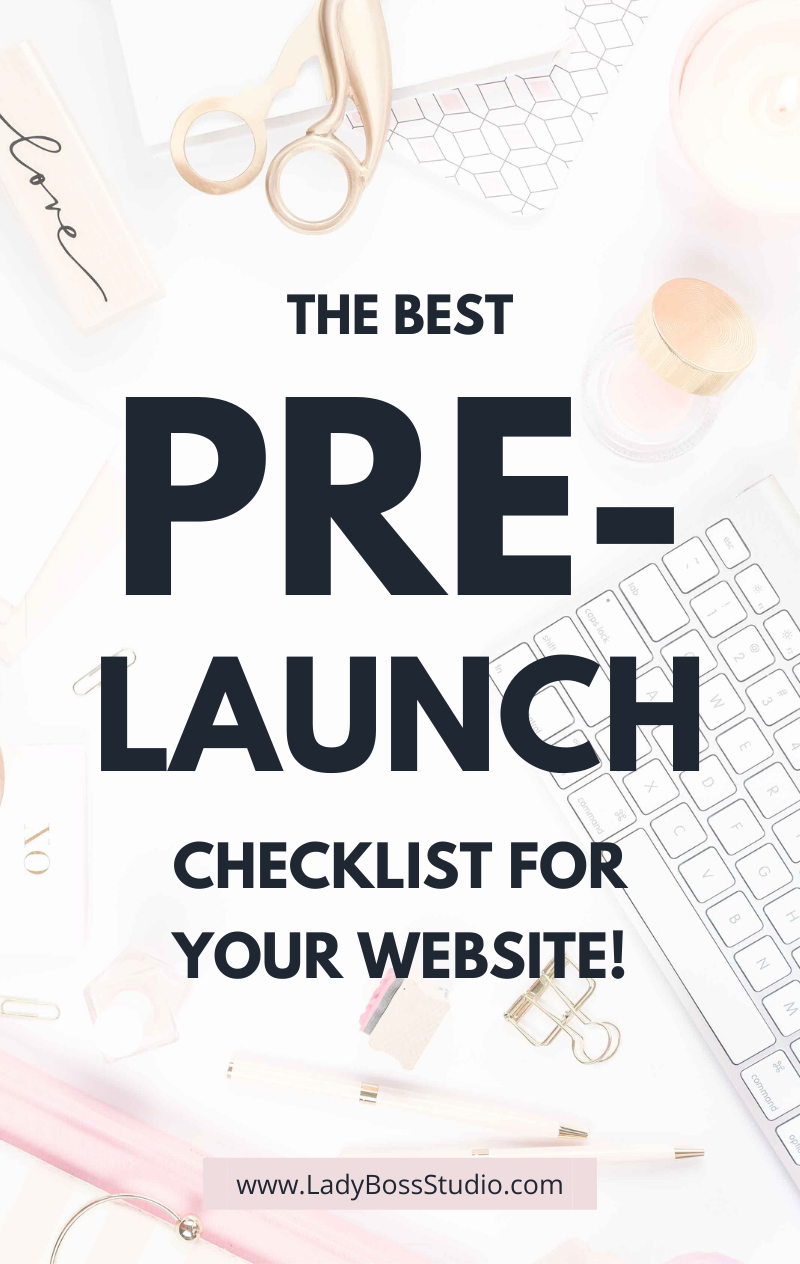 The Best Pre-Launch Checklist for Your Website! Get Instant Access to Our Pre-Launch Website Checklist for Free! We break down the top 6 items that need to be crossed off of your list before you launch your website! It can be challenging to build a new website! That is why we have created this FREE, easy to follow list. Check out our pre-launch website checklist now! #webdesign #wordpress #pre-launch