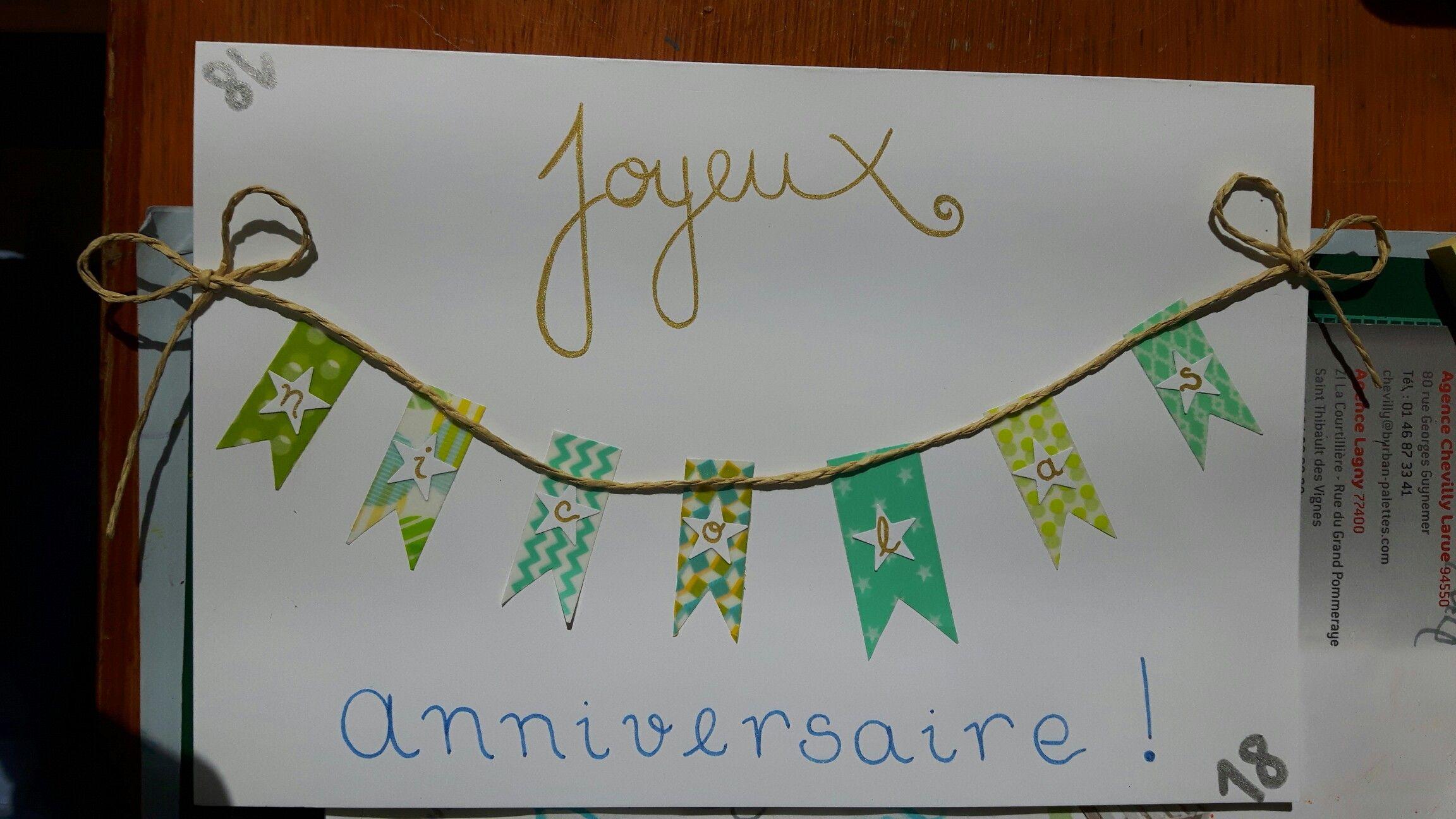 Carte D Anniversaire Que Pinterest M A Inspire Carte Anniversaire Carte Anniversaire