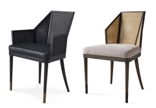 Cane Armchair And Side Chair