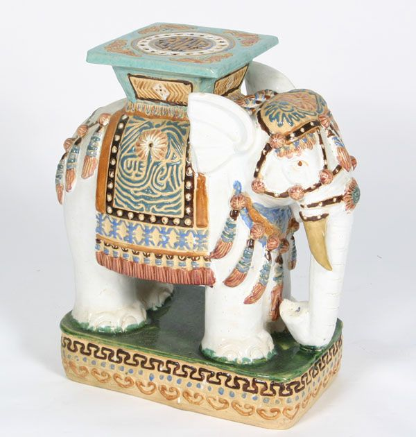 Elephant Side Tables Ceramic Elephants Aka Garden Seats Ceramic