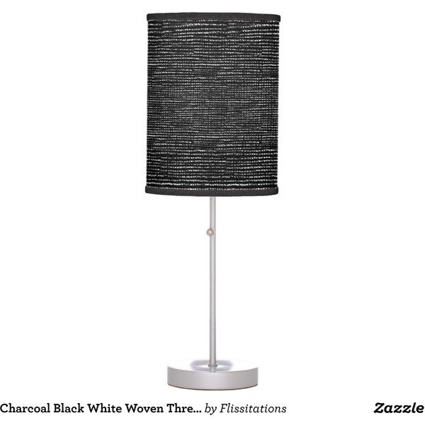 Charcoal Black White Woven Thread Effect Table Lamps Liked On