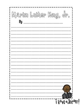 Martin Luther King Jr Writing Paper