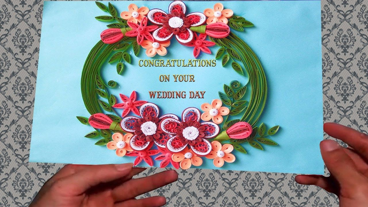 ☑️quilling wedding cards  make paper quilling