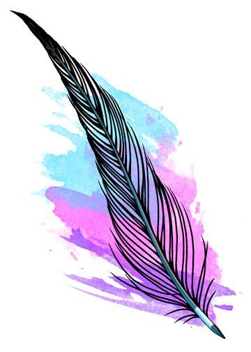 Watercolor Temporary Tattoo - Feather Tattoos | Watercolor tattoo feather,  Watercolor feather, Feather tattoos