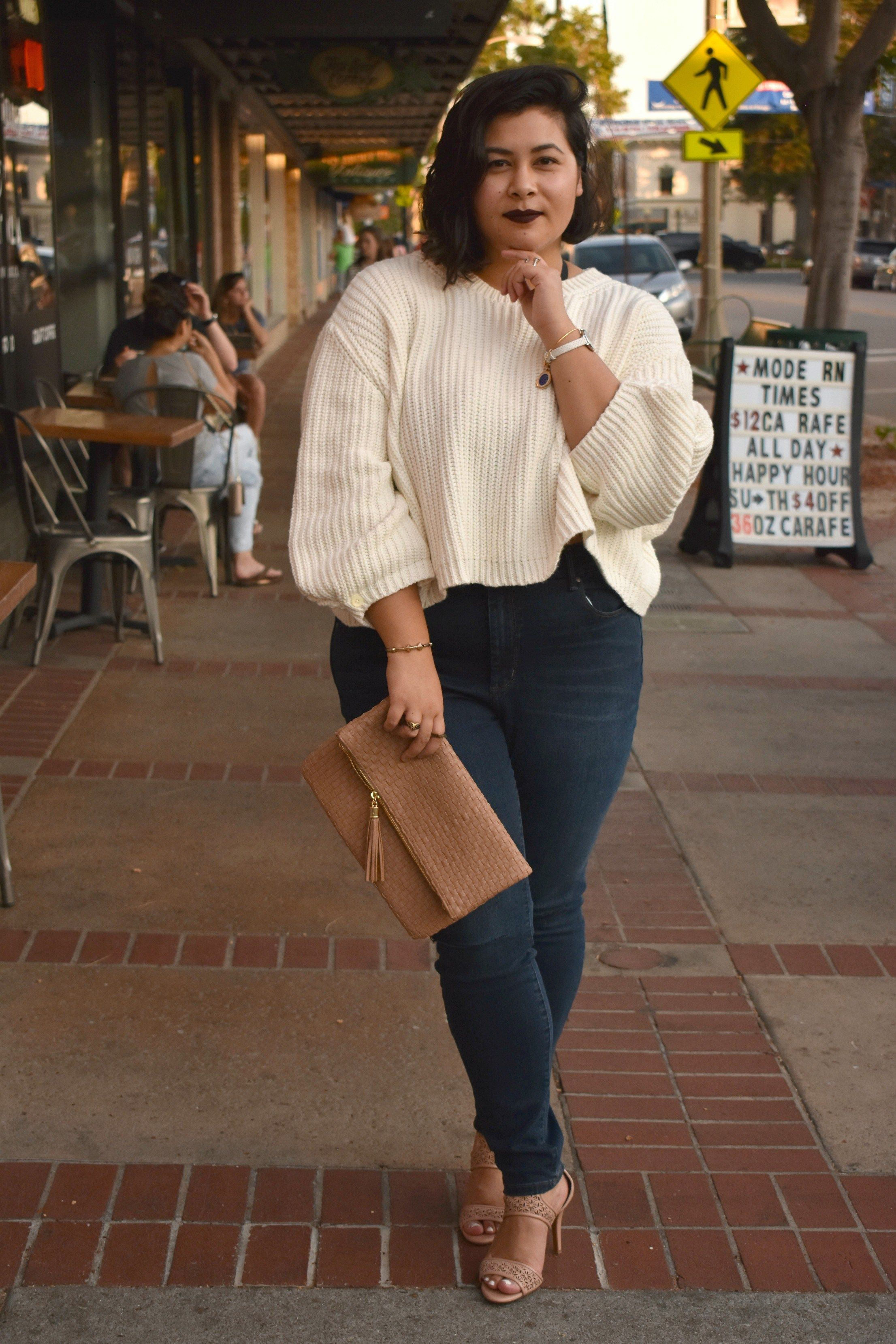 7348aba8e3d Fall Style Crop Knit Sweater  OOTD