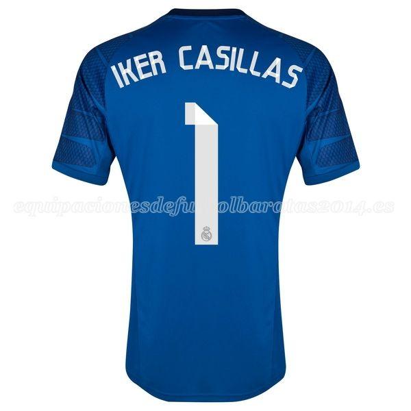 Iker Casillas de Camiseta Del Real Madrid Portero Primera 2014 2015 ... 3e3057911444c