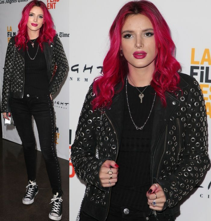 Bella Thorne wearing Converse Chuck Taylor All Star high top