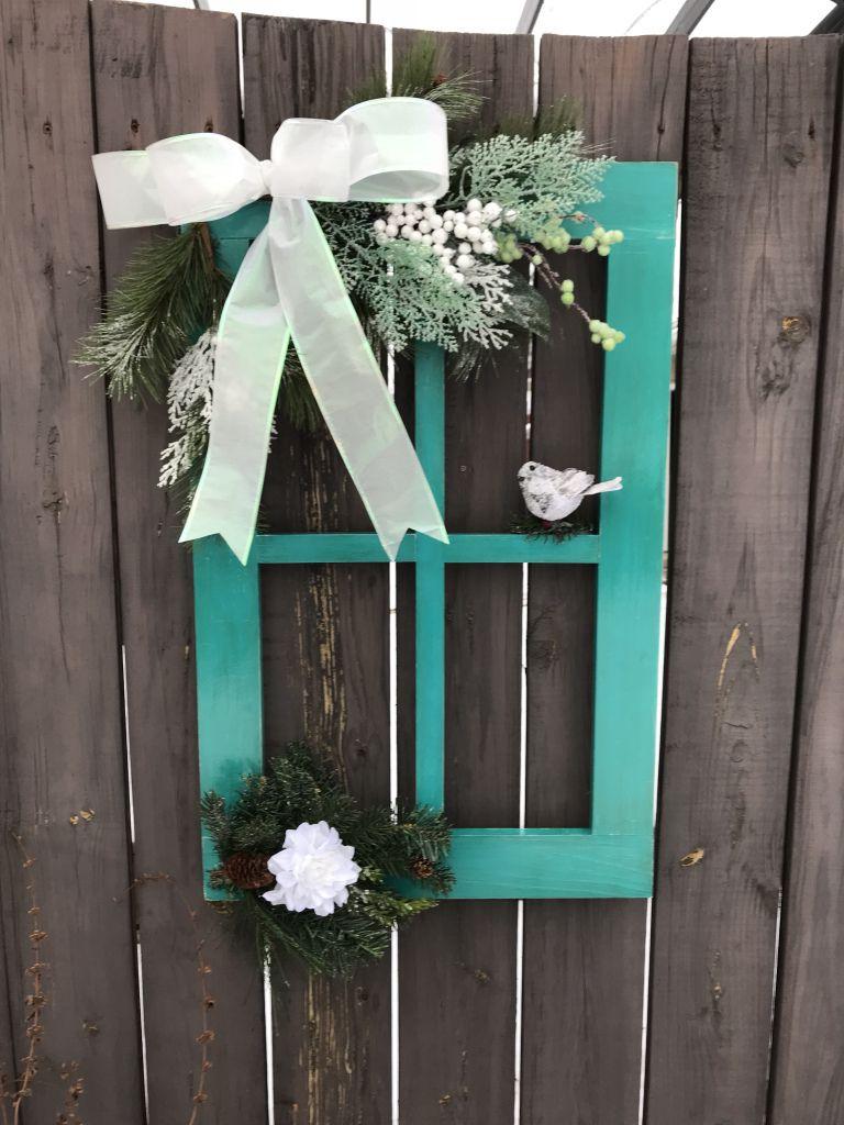 Christmas Decorated Window Pane,Holiday Window decor ...