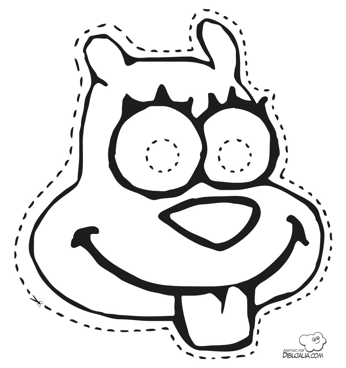mascara-bob-esponja-dibujalia-4.png (1131×1200) | Colorear ...