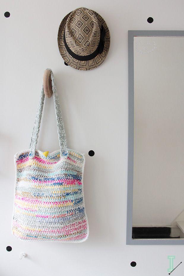 Crochet leftovers tote | Cr♡chet bags & purses | Pinterest | Hilo ...