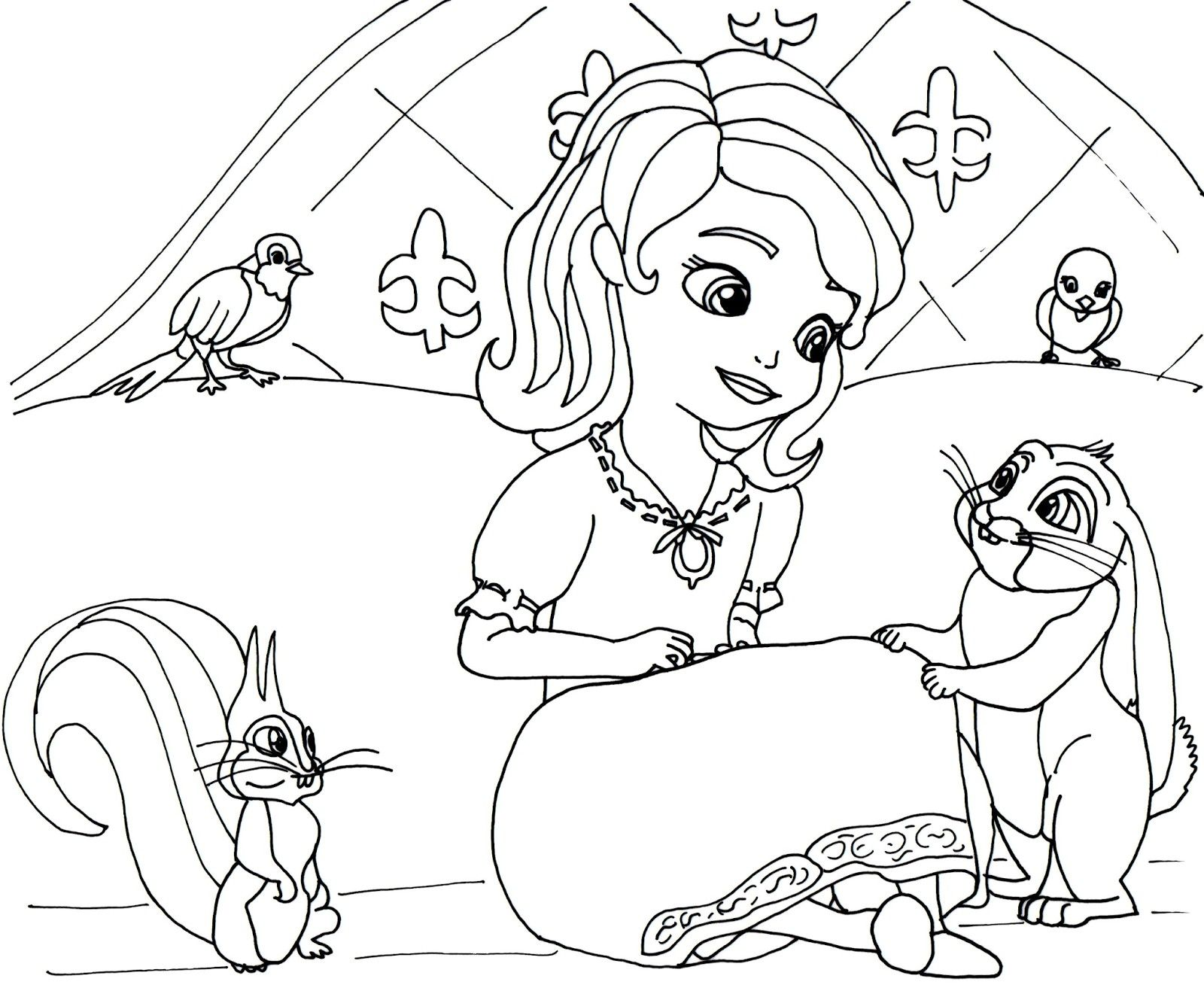 Princess Sofia Coloring Pages Pdf Through The Thousands Of Photos