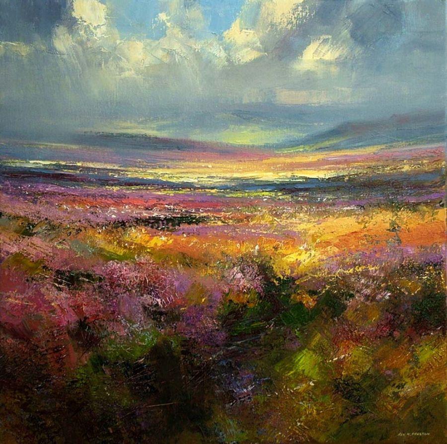 Pingl par anne spooner sur art iv pinterest pastel le pastel et paysages - Paysage peinture facile ...