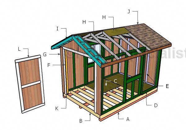 Building a 8x12 garden shed #buildingashed Shed Designs Tips And