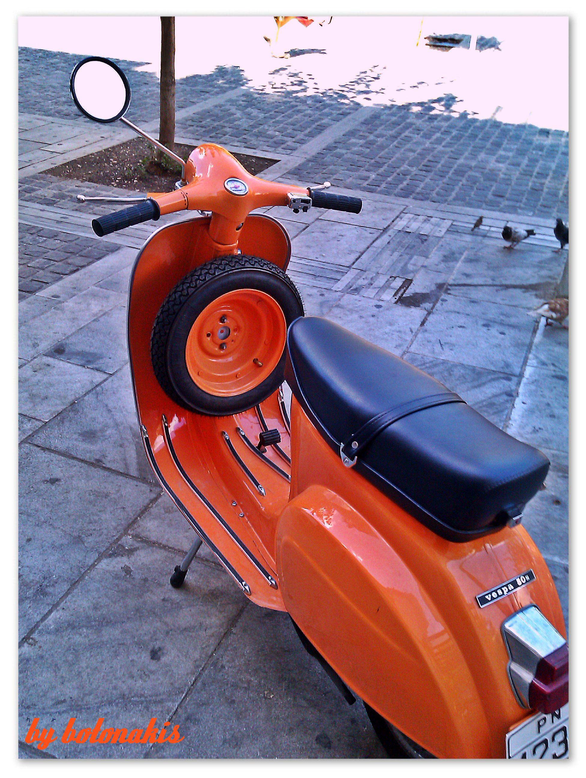 Vintage orange Vespa 1