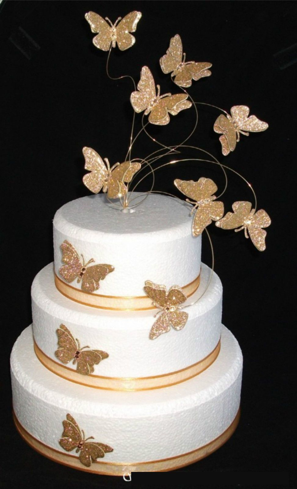 Superb Golden Silver Erfly Cake Toppers Wedding Birthday Anniversary Ebay Designs
