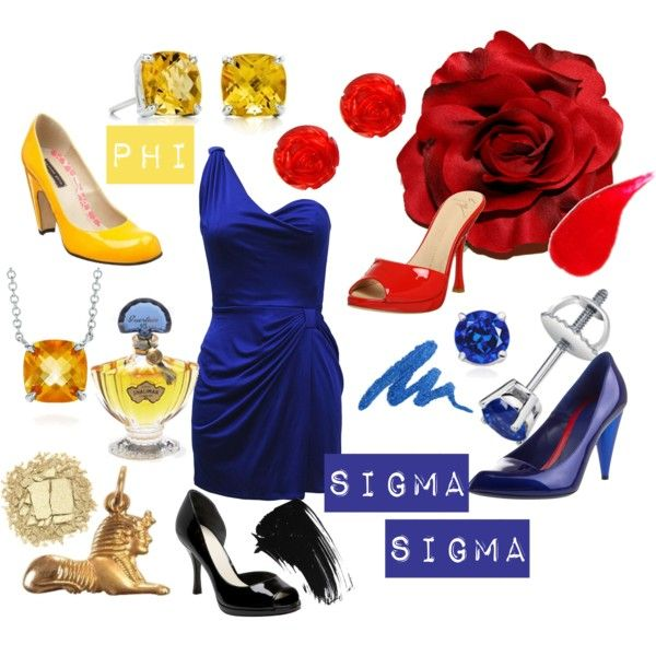 Phi Sigma Sigma, created by violetpretty on Polyvore