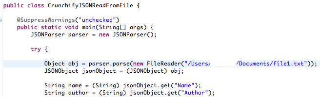 How to Read JSON Object From File in Java | Crunchify