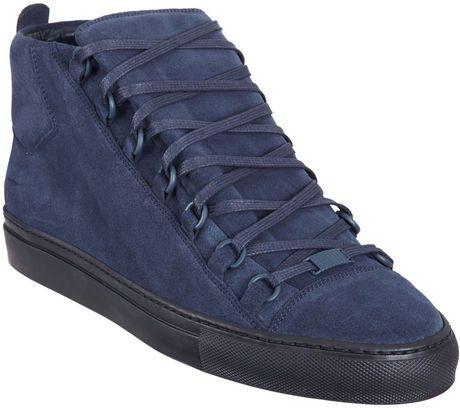 Nouvelles Arrivées 315d9 dcd29 Balenciaga Navy Suede Arena hightop sneakers | Balenciaga ...