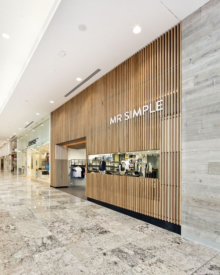 Exceptional Wood Slat Facade Window Entry Mall Wrap Depth Mr Simple Store By Prospace  Design Studios, Brisbane Australia Fashion