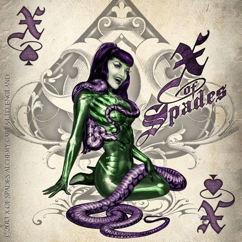 Evil Babe Ace Of Spade...