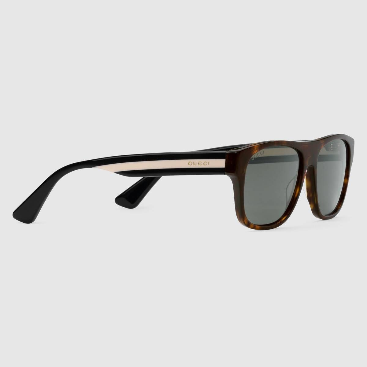 d7e4f24de53 Rectangular-frame acetate sunglasses - Gucci Men s Square   Rectangle  519163J00702835