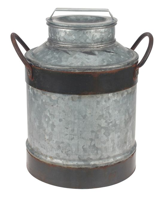 Large Galvanized Metal Milk Can