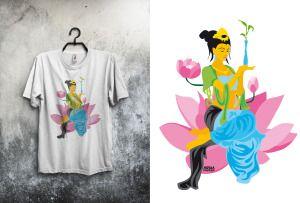 """Guanyin, nueva camiseta de la colección """"hinduísmo"""""""