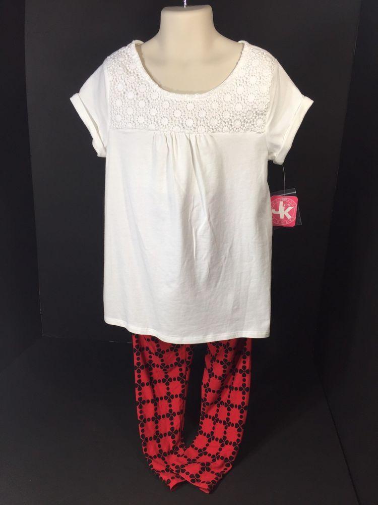 f10a03acbe51 Childrens Clothes Girls Size S (7) Top   Pants J Khaki Kids White ...
