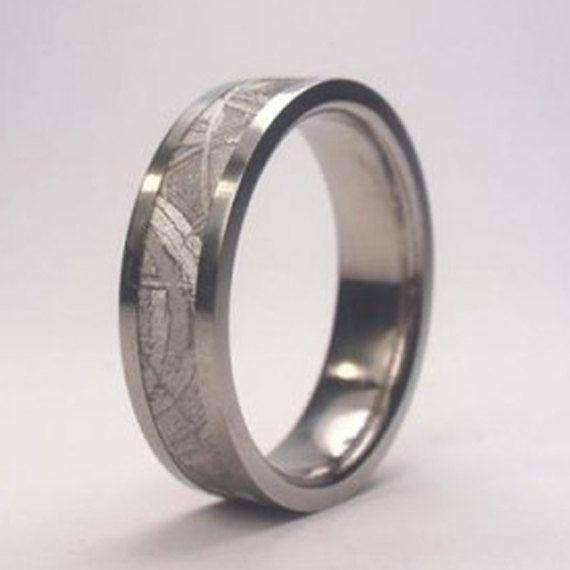 Meteorite Ring Meteorite Wedding Band Meteor Titanium Ring Mens Meteorite Ring Meteorite Mens Meteorite Ring Mens Wedding Rings Meteorite Engagement Ring