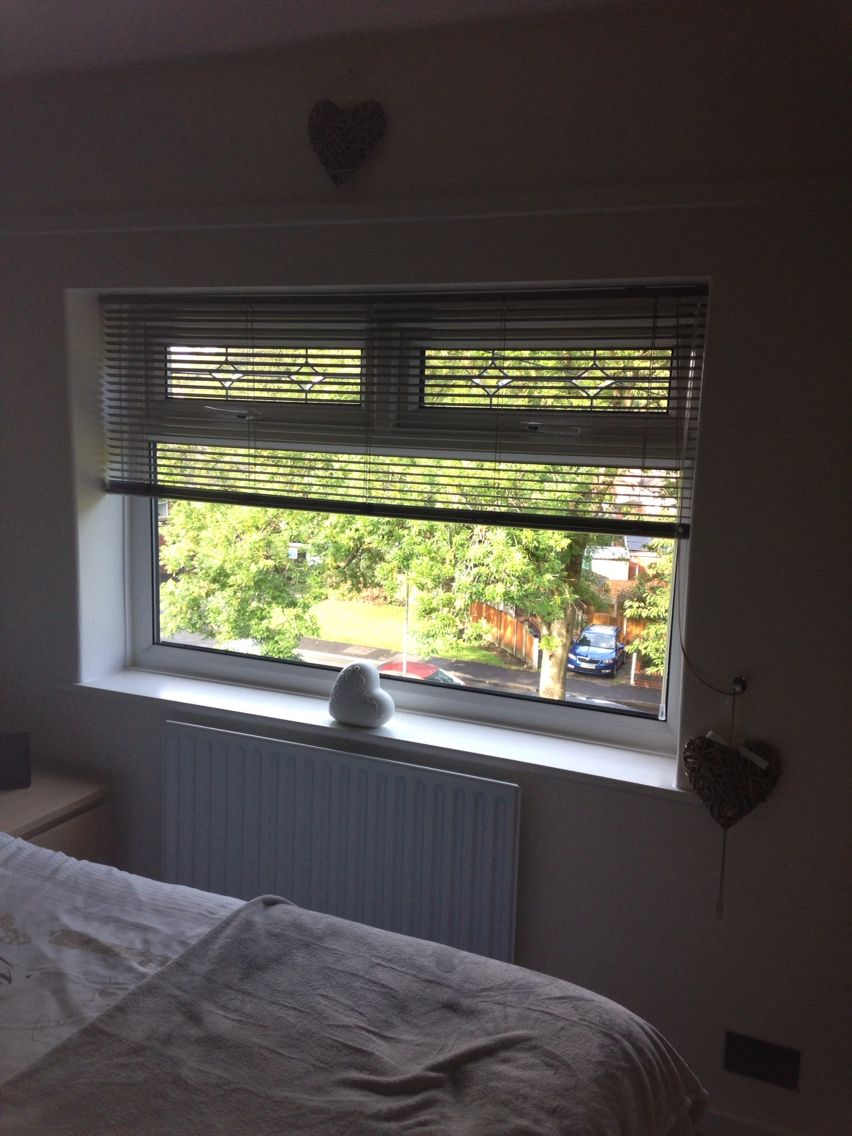 House window shade design  love my blinds  keeping it simple with no curtains  new bedroom