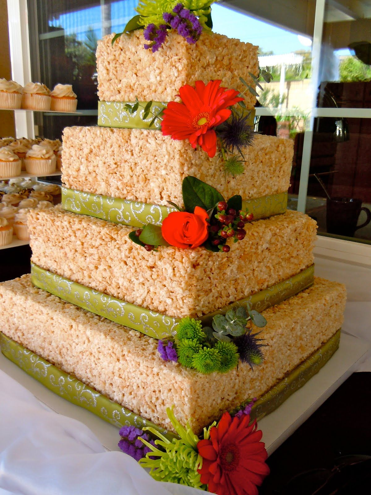 Perfect How To Make Your Own Rice Crispy Wedding Cake! Love This!