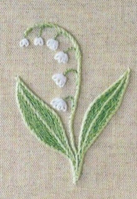 Lily of the valley free embroidery design