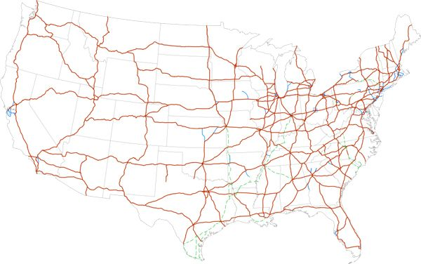 How Far Can You Live From An Interstate Highway Rivers - Eastern us interstate highway map