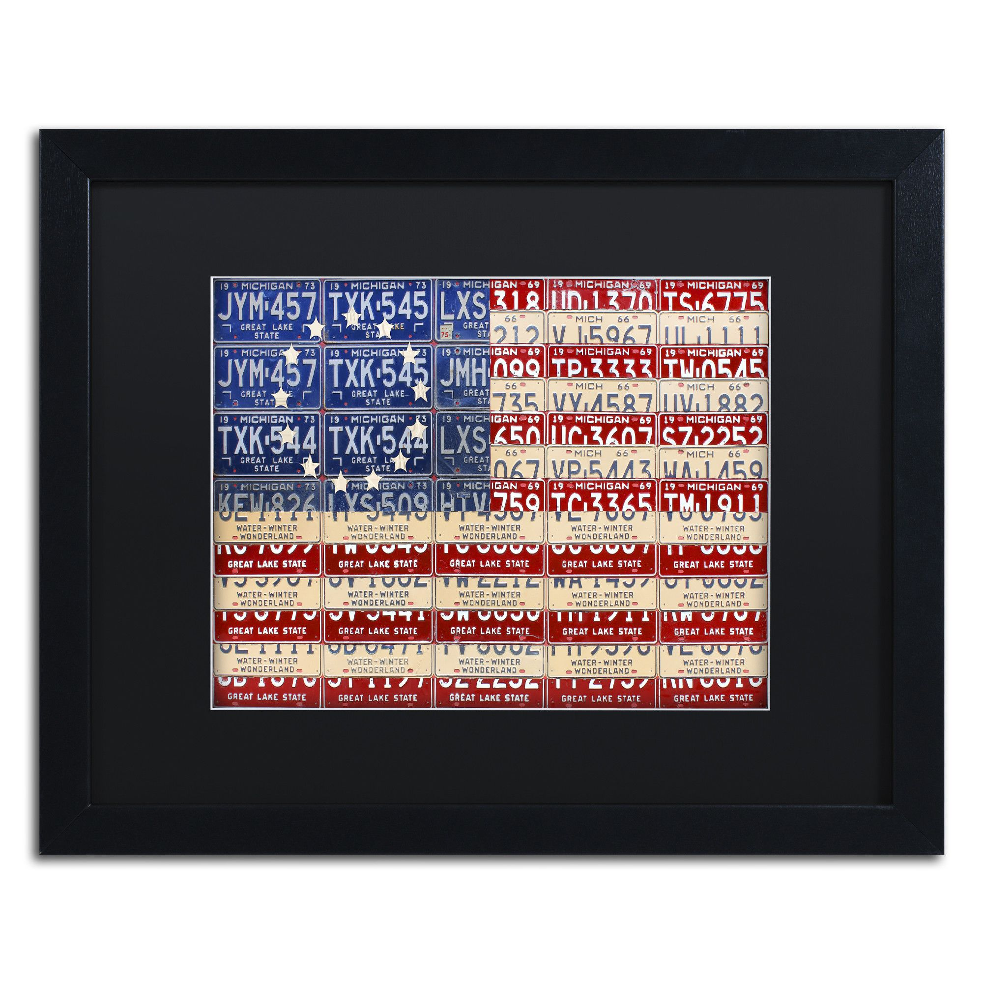 Betsy Ross Flag by Design Turnpike Framed Graphic Art