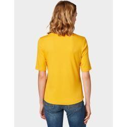 Tom Tailor Damen Nena & Larissa: T-Shirt mit Print-Motiv, yellow, unifarben mit Print, Gr.xl Tom Tai...