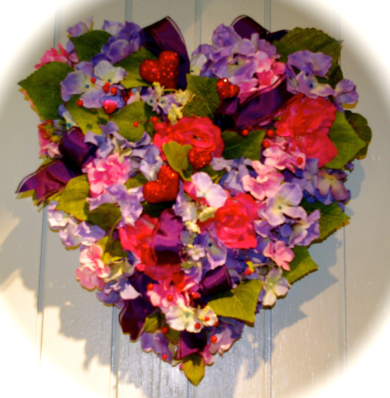 Blooming Heart Floral Wreath Bloom
