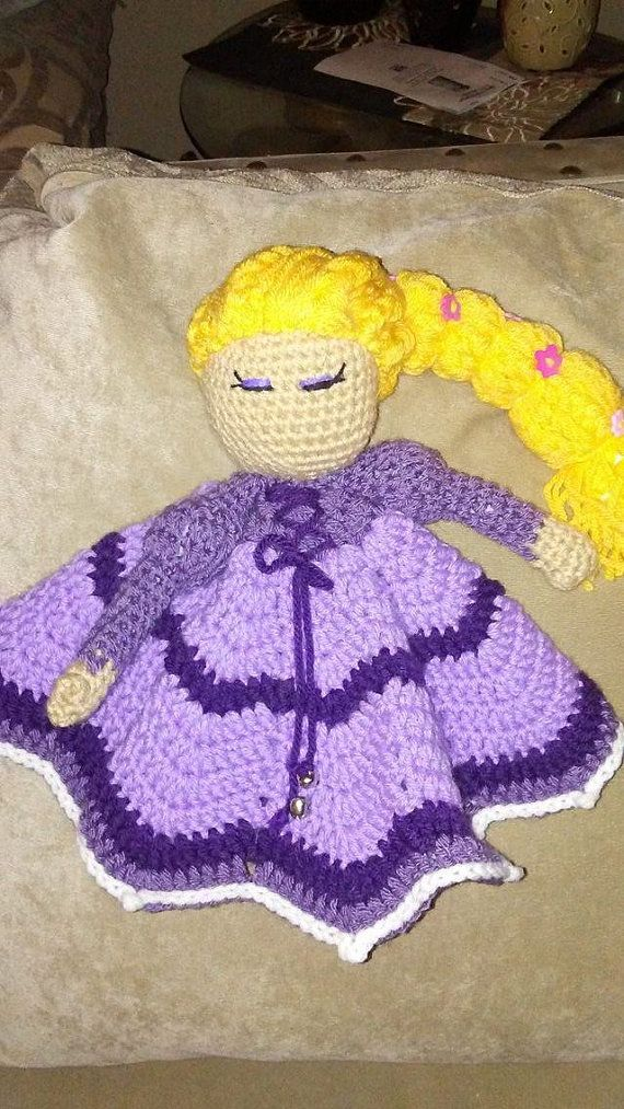 Rapunzel Princess  Inspired Lovey by KathiKraftsBoutique on Etsy
