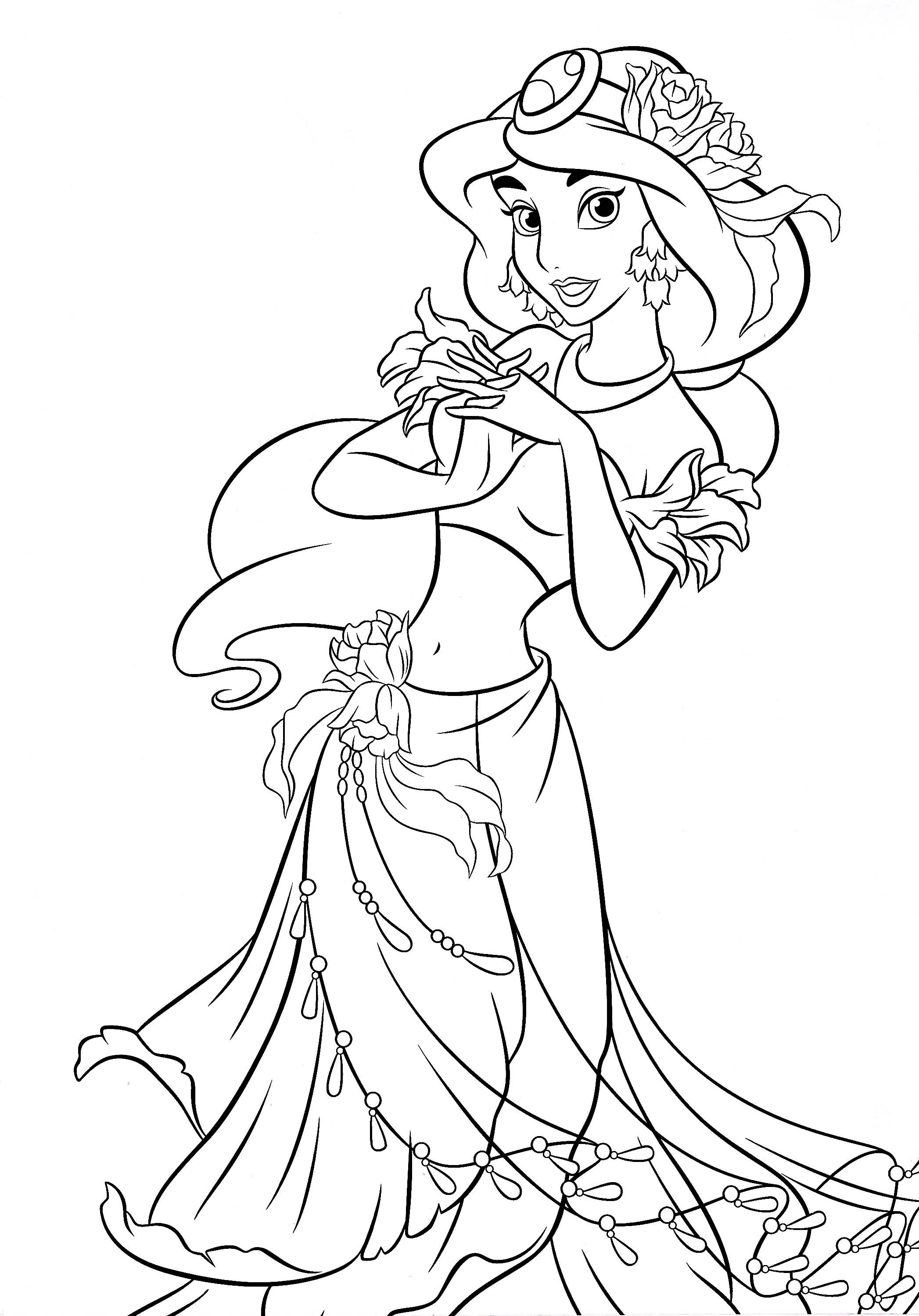 dibujos para colorear de la princesa jasmin | dibujos para colorear ...