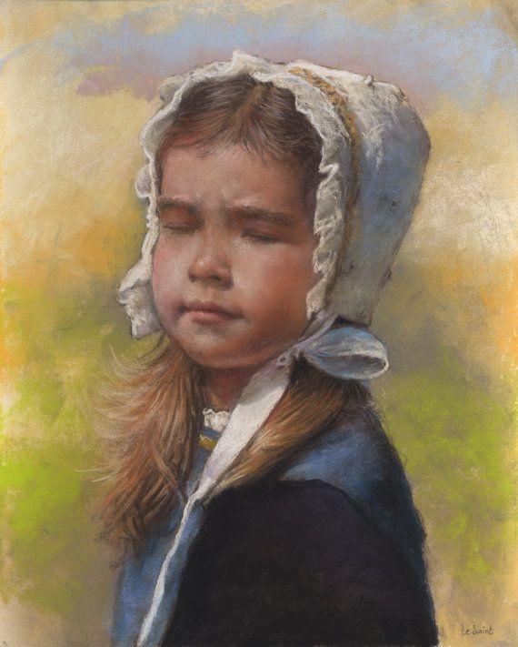 """Original Pastell Porträt (Ref 130530 - 1): """"die Wolken haben aufgehoben"""""""