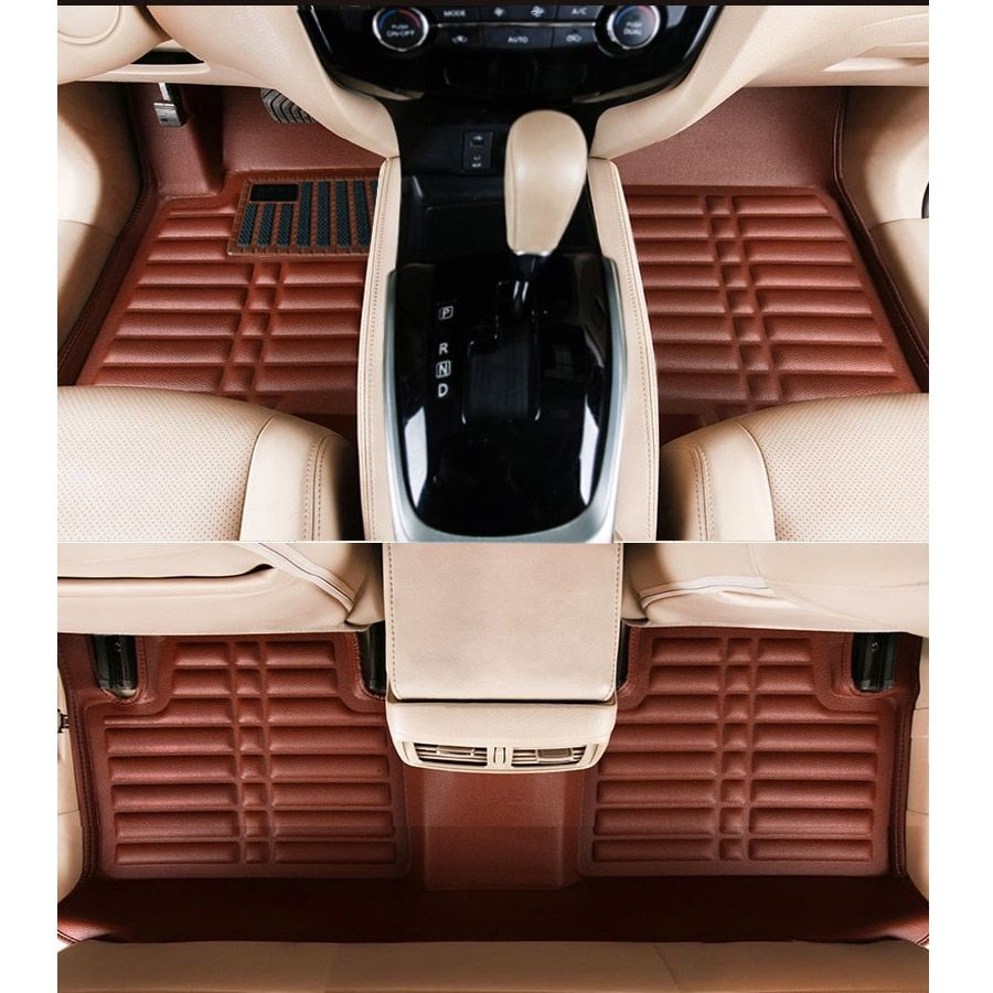free shipping leather car floor mat carpet rug for nissan