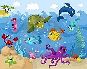 Cartoon underwater scene google search nursery pinterest cartoon underwater scene google search voltagebd Gallery