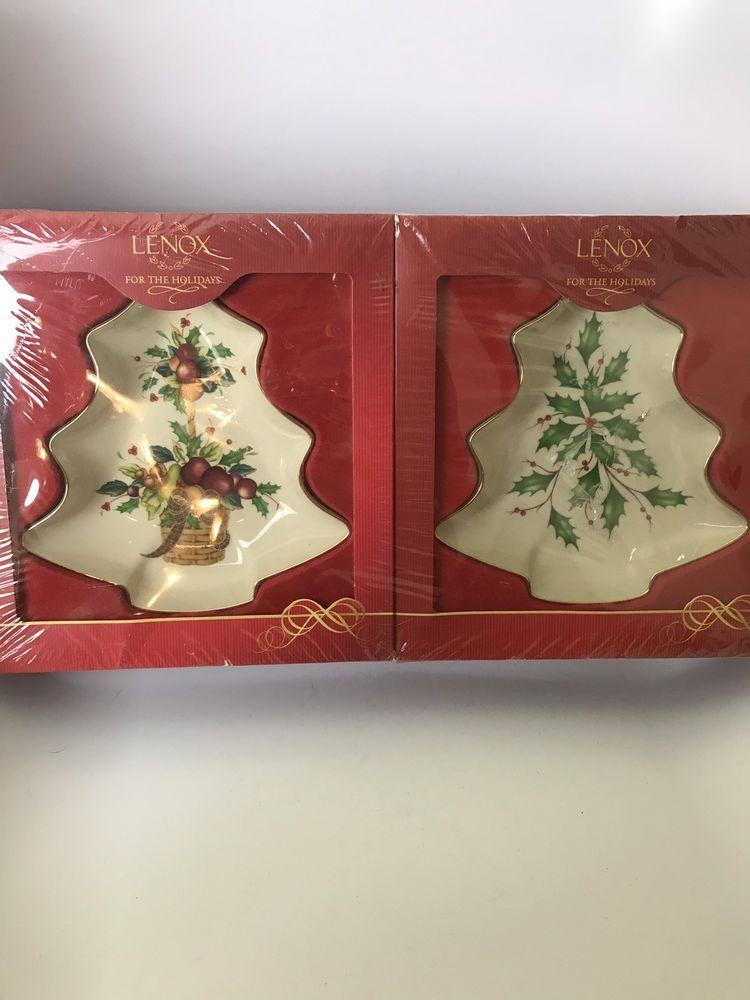 New Lenox Christmas Tree Small Candy Dish Set Of 2 Lenox Lenox Christmas New Lenox Christmas Tree Candy Dish