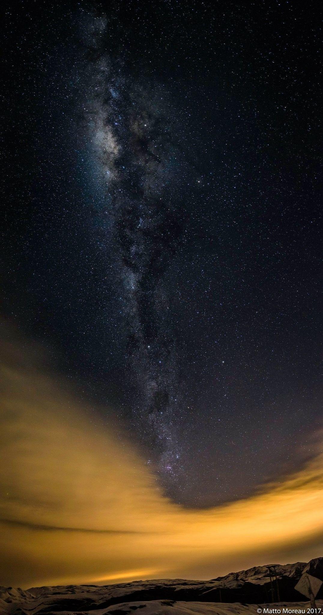 Vía láctea, valle Nevado, Chile Pucon, Chile, Naturaleza