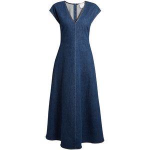 962c2f41d89 Stella McCartney Ella V-neck fluted denim dress
